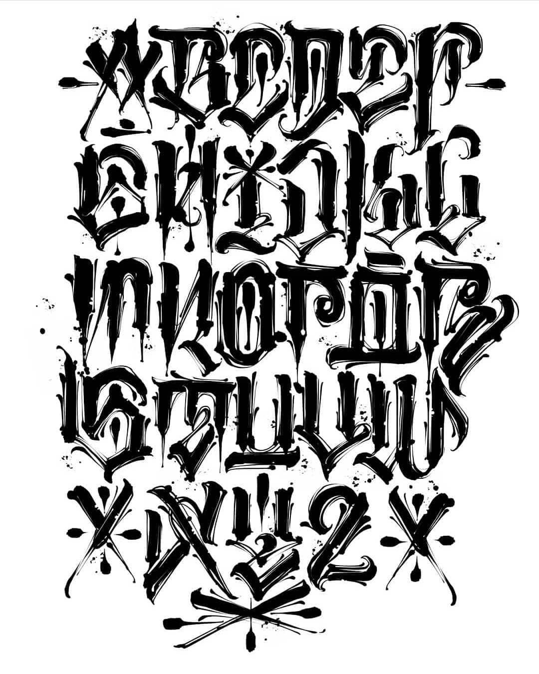 Got So Much Love Off This Alphabet So Many Saves Tattoo Lettering Alphabet Tattoo Fonts Alphabet Lettering Styles Alphabet