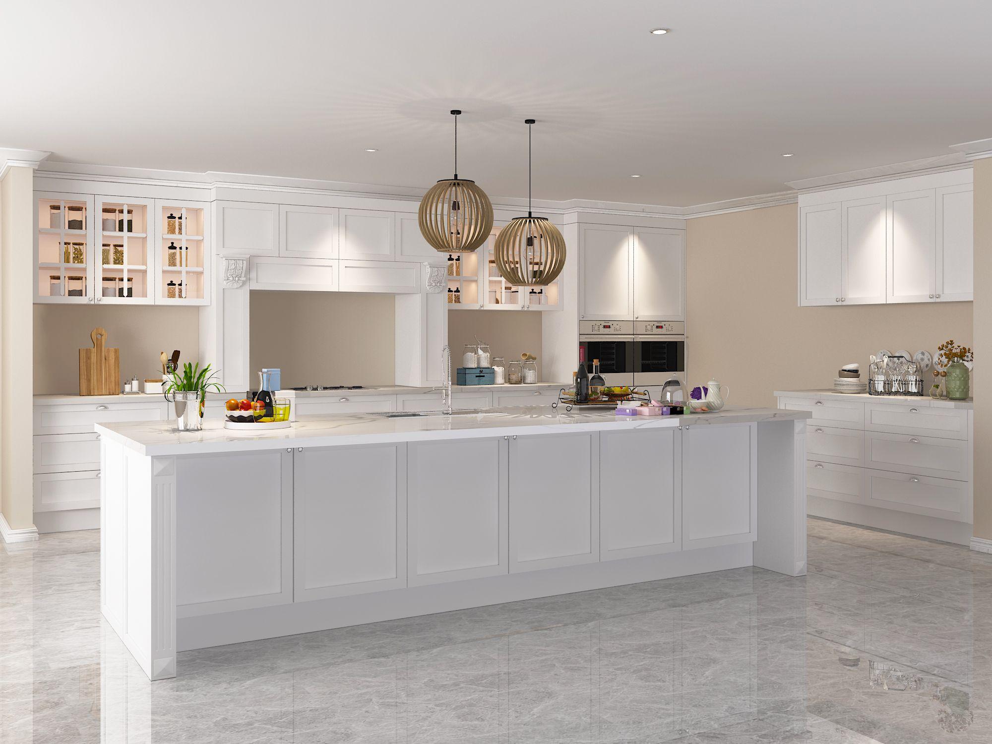 Vermonhouzz Australia Shaker Cabinet Modern Kitchen Cabinet Designs White 3d Free Drawin Modern Kitchen Cabinet Design 3d Kitchen Design Kitchen Cabinet Design