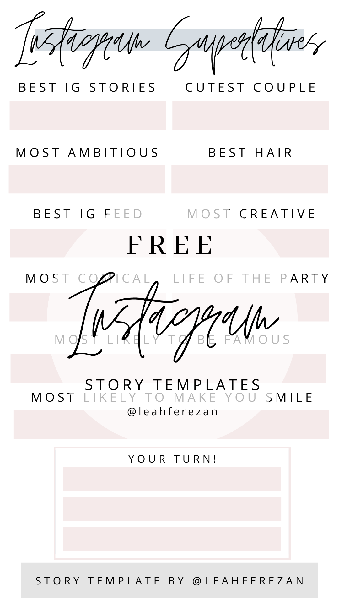 Ig Story Templates Lifestyle With Leah Instagram Story Template Story Template Instagram Story
