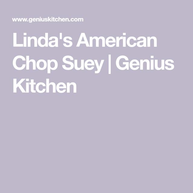 Linda S American Chop Suey