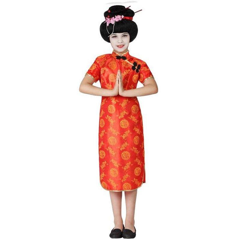 Disfraz De China Roja Para Niña Barato Disfraz De China Disfraz De Chinita Disfraces Para Chicas