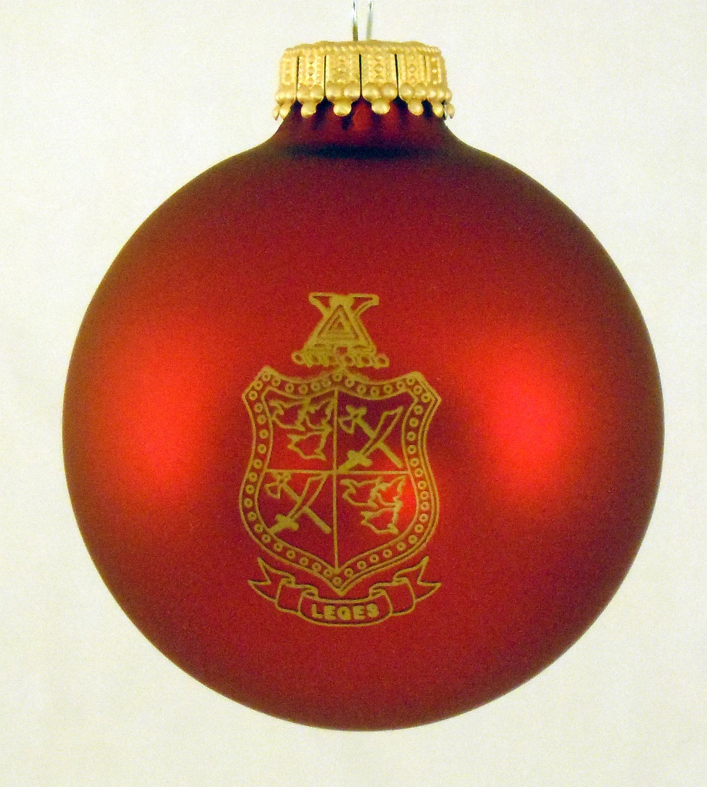 Your Fraternity Greek Crest Holiday Ball Ornament NEW