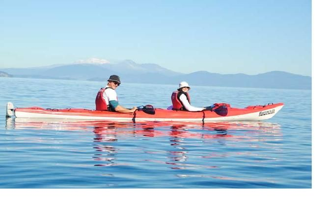 Half-Day Kayak to the Maori Carvings from Taupo Glide your kayak over Lake Taupo's crystal clear waters as you paddle to the awe-inspiring Maori Rock Carvings on this 4-hour guided tour. Soak in the view across the Lake to 3 live volcano's while you hear the history of the carvings, various Maori legends and facts of the local area from your guide before enjoying rock jumps and a swim in Australasia's largest freshwater Lake. A must-do while in Taupo!This 4-hour small group g...
