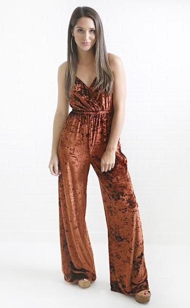 b1dc3f3e5a4 show me your mumu  the richards jumpsuit - copper crushed velvet