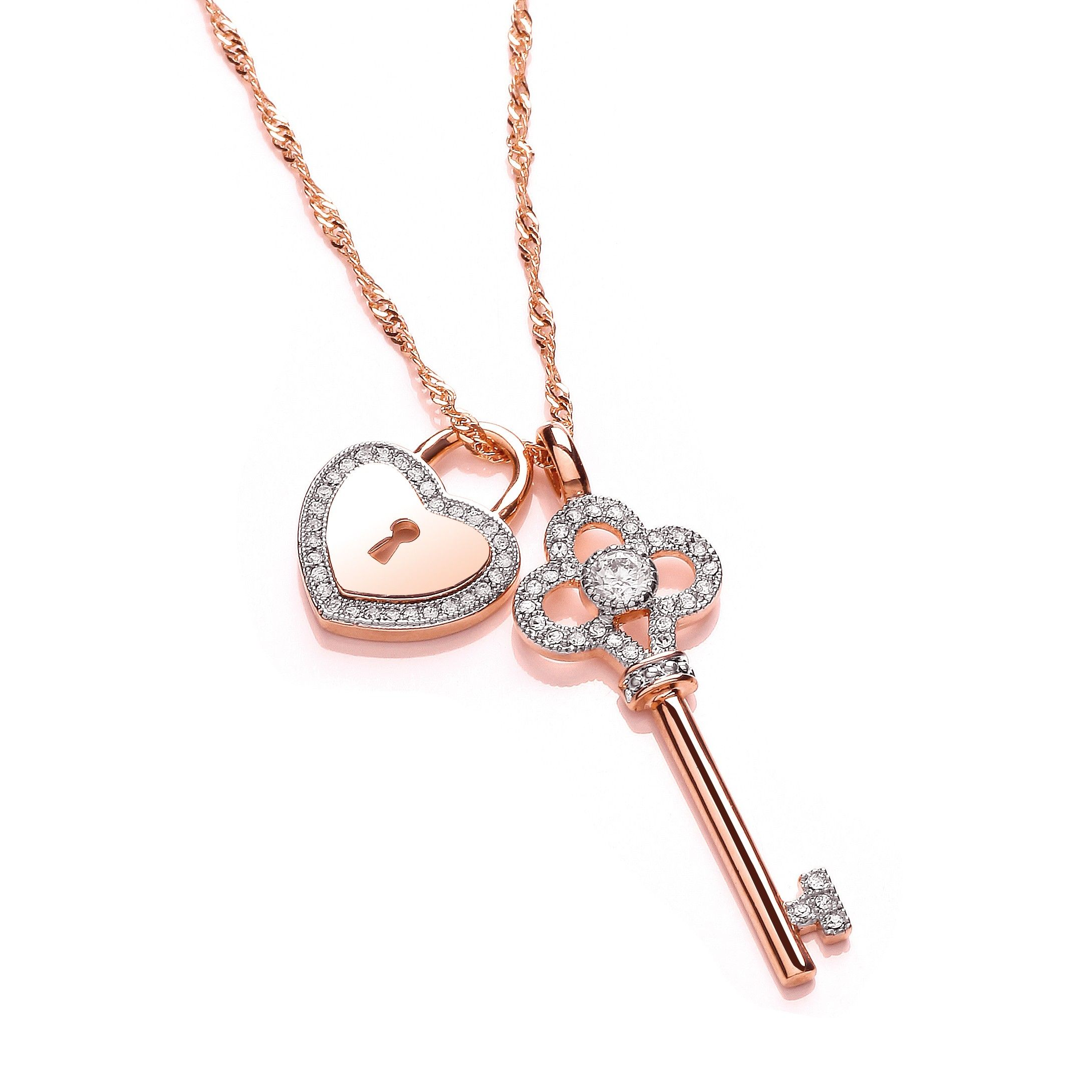 fpx shop fashion jewelry heart main pendant necklace pave michael pav product image lock kors