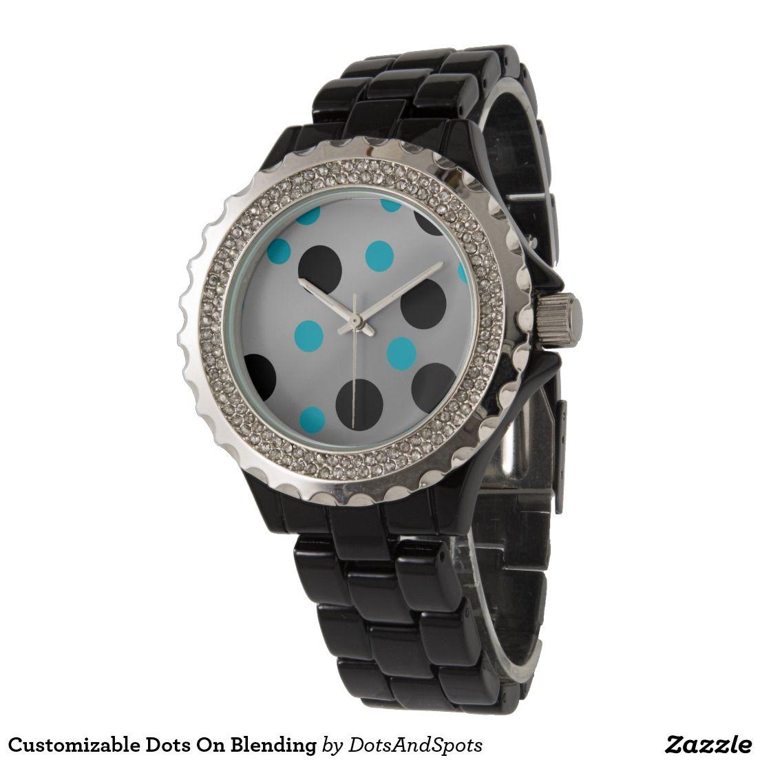 Customizable Dots On Blending Wrist Watches