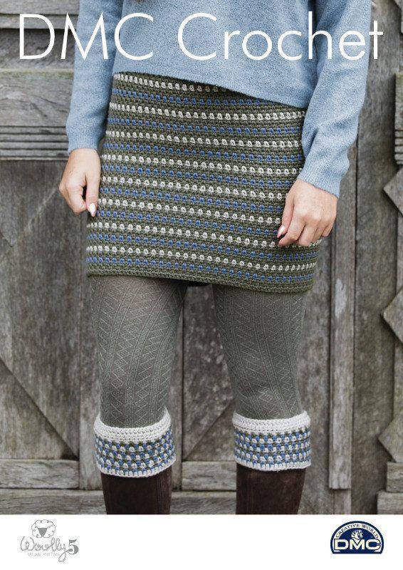 Falda de Tweedie y arranque puños ganchillo patrón único | Knitting ...