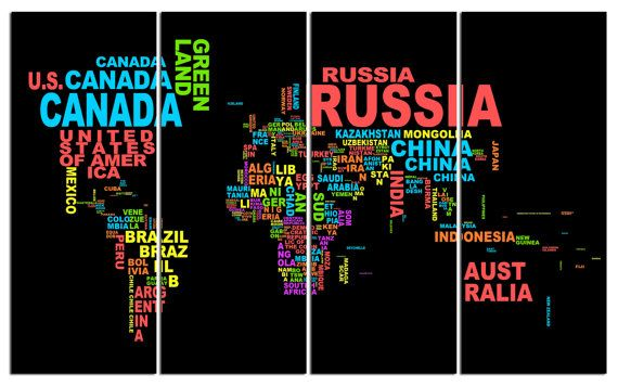 Country name abstract world map diptych triptych multi panel large country name abstract world map diptych triptych multi panel gumiabroncs Images