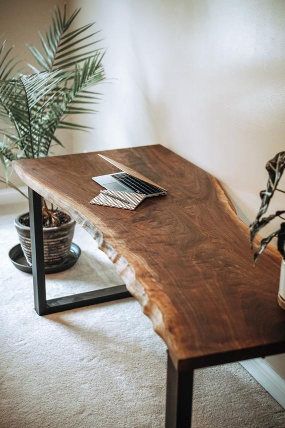 Photo of Live Edge Desk // Handmade // Black Walnut