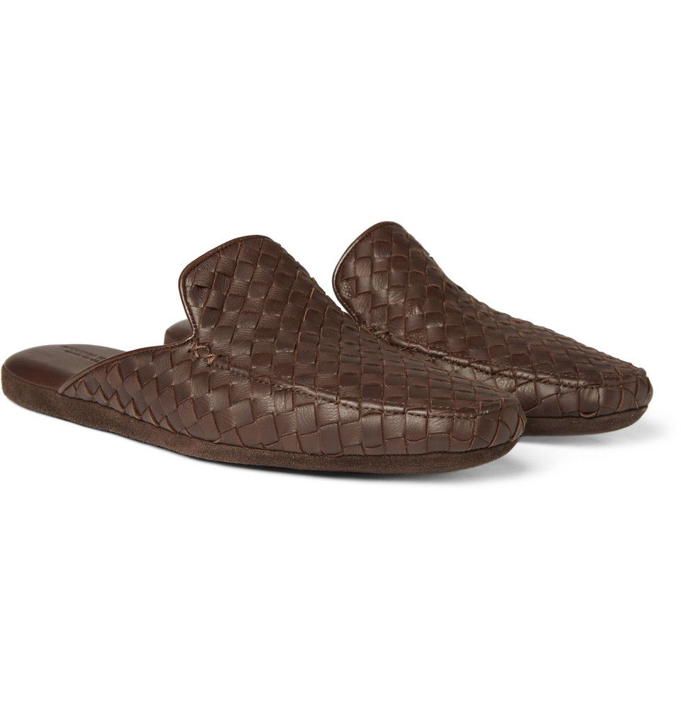 Bottega Veneta Intrecciato Leather Slippers | MR PORTER