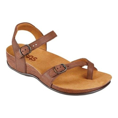 1662ad62b65 Women s SAS Pampa Toe Loop Sandal - Chocolate Leather Sandals