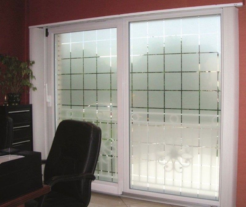 Patterned Decorative White Frosted Window Film Privacy Frosted