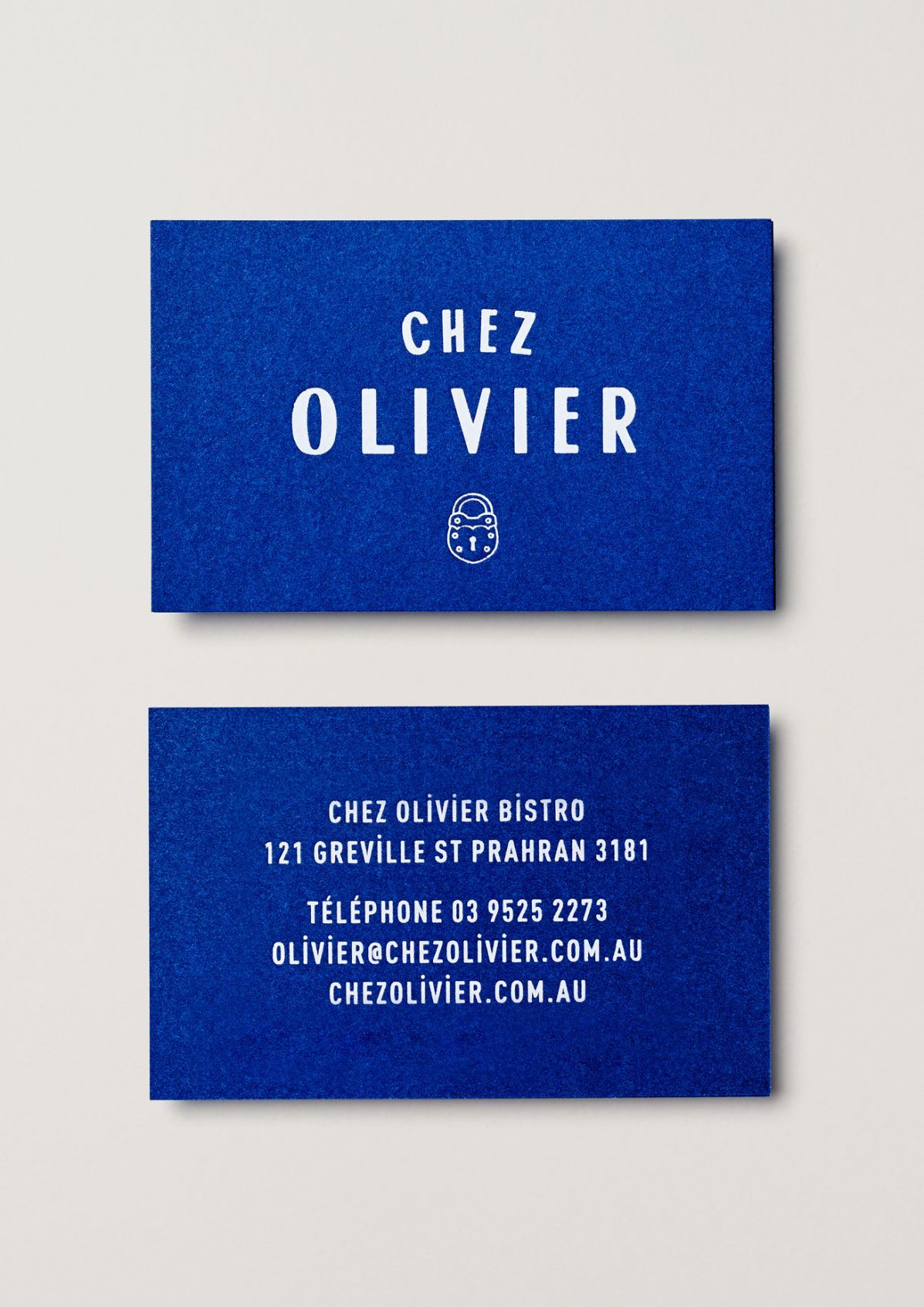 New brand identity for chez olivier by swear words bpo business chez olivier by swear words australia branding businesscards reheart Images