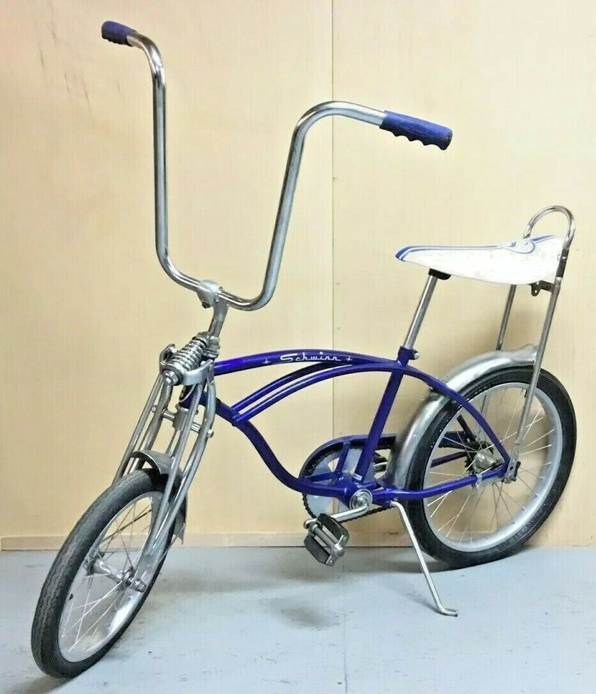 """20/"""" SOLID BLACK Lowrider Krate Bicycle BANANA SEAT *Free Grips Included"""