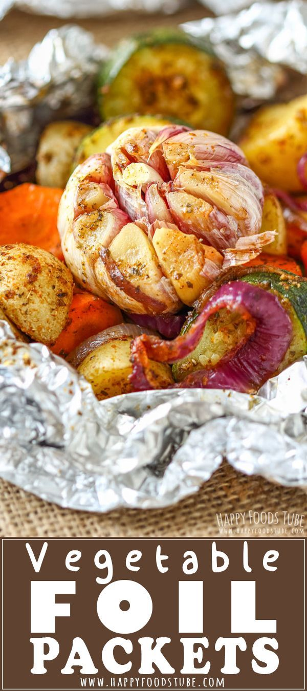 Vegetable Foil Packets - Happy Foods Tube