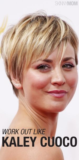 Amazing Get The Skinny On Kaley Cuoco S Workout And Diet Here Hairstyles For Men Maxibearus