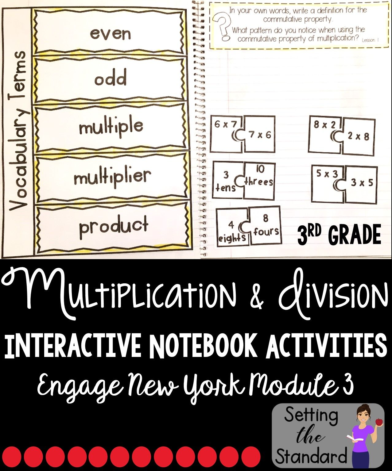 Interactive Math Notebook Grade 3 Module 3 Engage New York