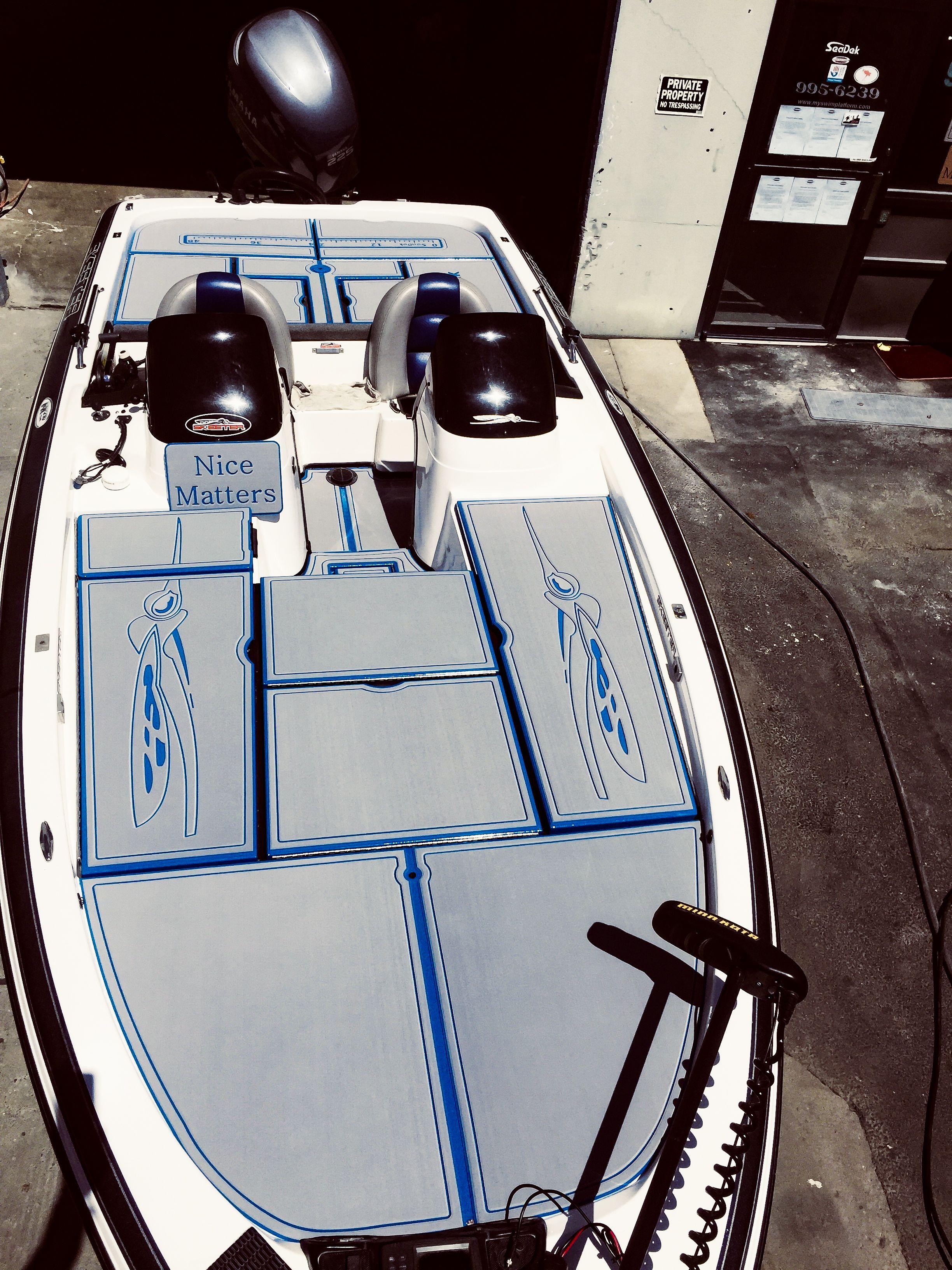 Seadek On A Skeeter Bass Boat Bass Boat Boat Restoration Bass Boat Accessories