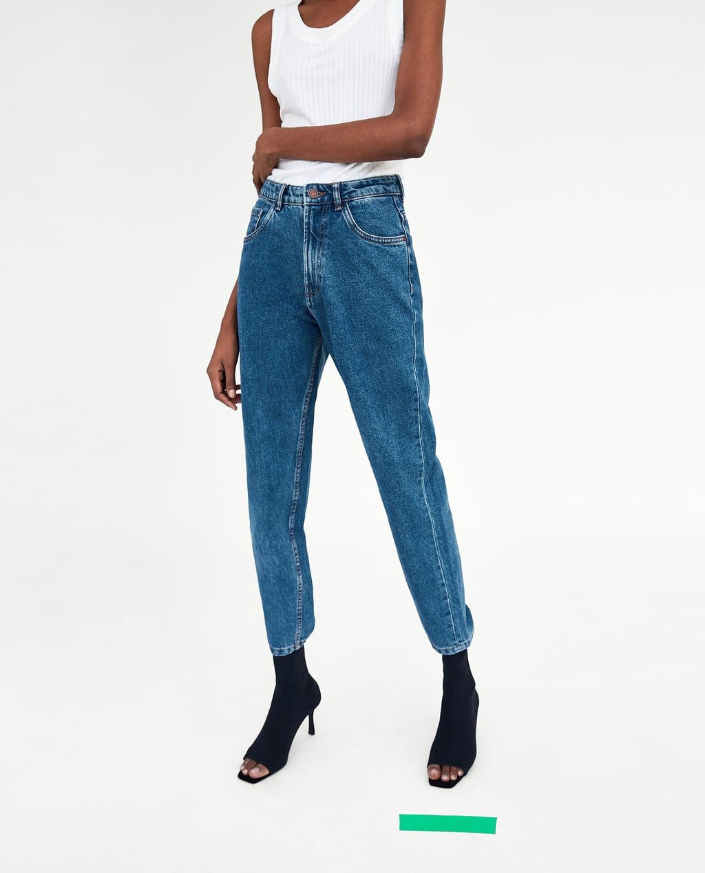a6dcffa6de Image 3 of HIGH-RISE MOM FIT JEANS from Zara