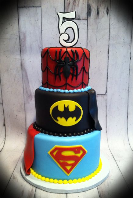Superhero Birthday Cakes Cakes By Susan Characters