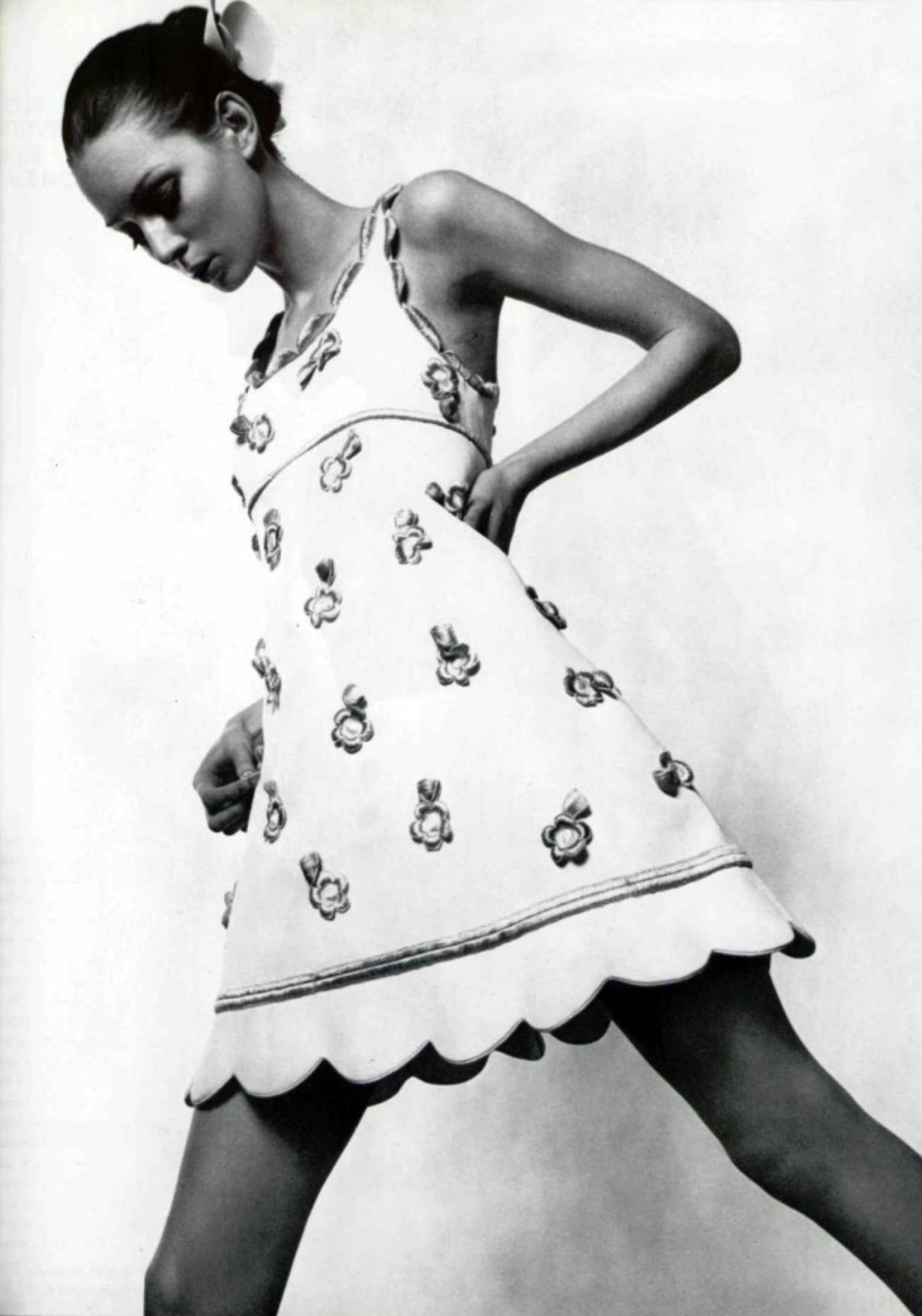 Courrèges mini dress s vintage fashion pinterest s