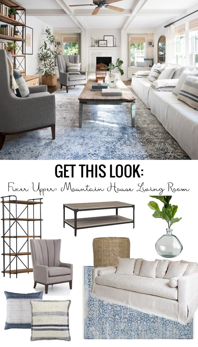 Get This Look: Fixer Upper Mountain House Living Room (Remodelaholic ...