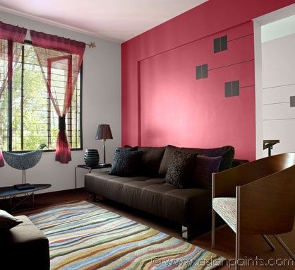 Interior design ideas asian paints paint by pins - Designer wall paints for living room ...