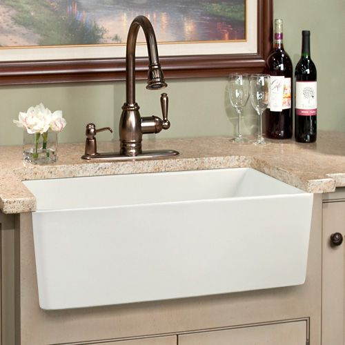 Handel Single Bowl Fireclay Farmhouse Kitchen Sink 26 556 Farmhouse Sink Kitchen Farmhouse Sink Faucet White Kitchen Sink