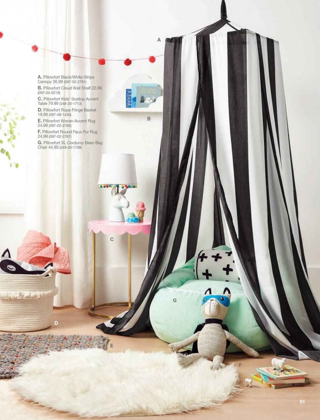 Create A Centerpiece In Child Rsquo S Room With The Rugby Stripe Canopy Black White From Pillowfort This Bed Can Be Hung To Sleeping
