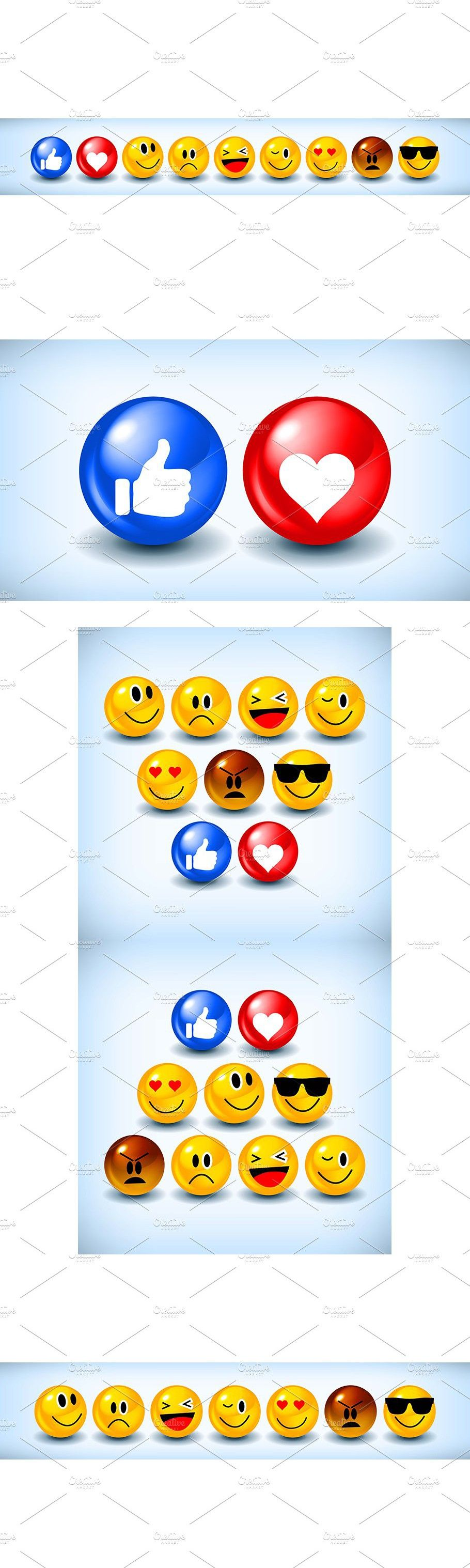 Large set of emoticons in 2020 Love heart emoji, Cartoon