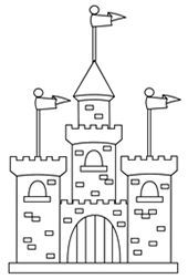 How To Draw A Castle For Kids Once Upon A Time Words And Music By