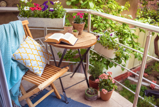 The Perfect Spot For A Little Afternoon Reading Outdoor Furniture Small Patio Furniture Balcony Furniture