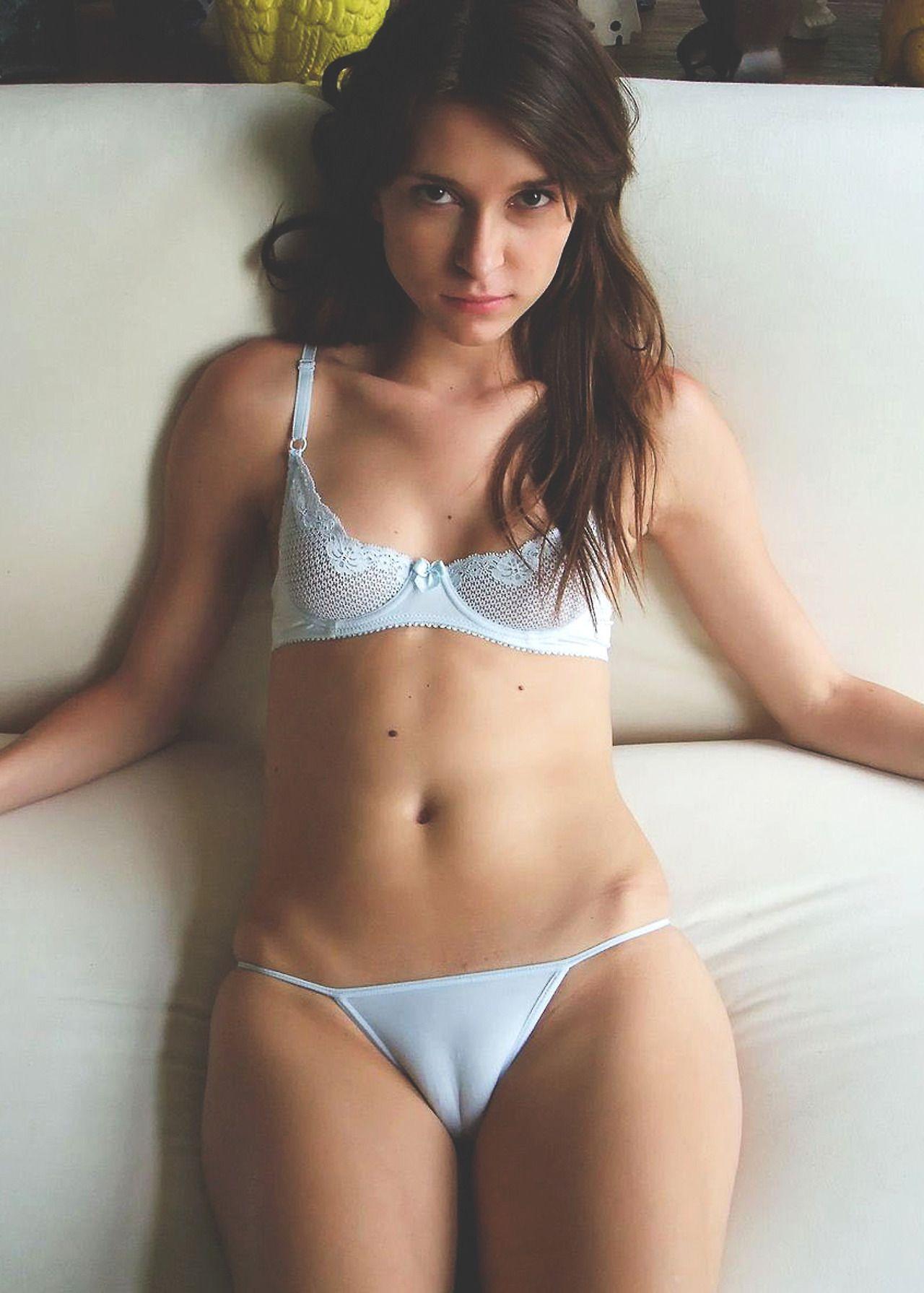 Tight White Bikini