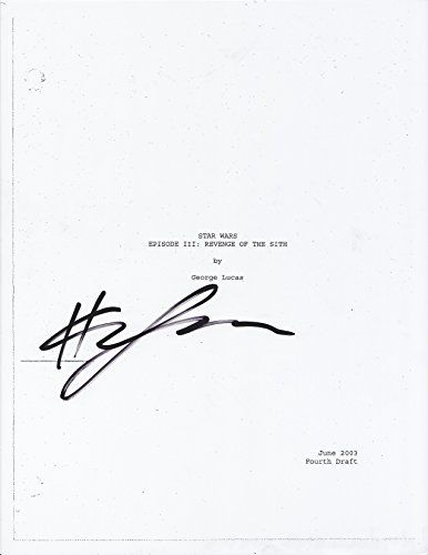 Hayden Christensen Signed Star Wars Episode Iii Revenge Of The Sith Script Autograph Full Every Page Coa At Amazon S E Star Wars Episodes Star Wars Autograph