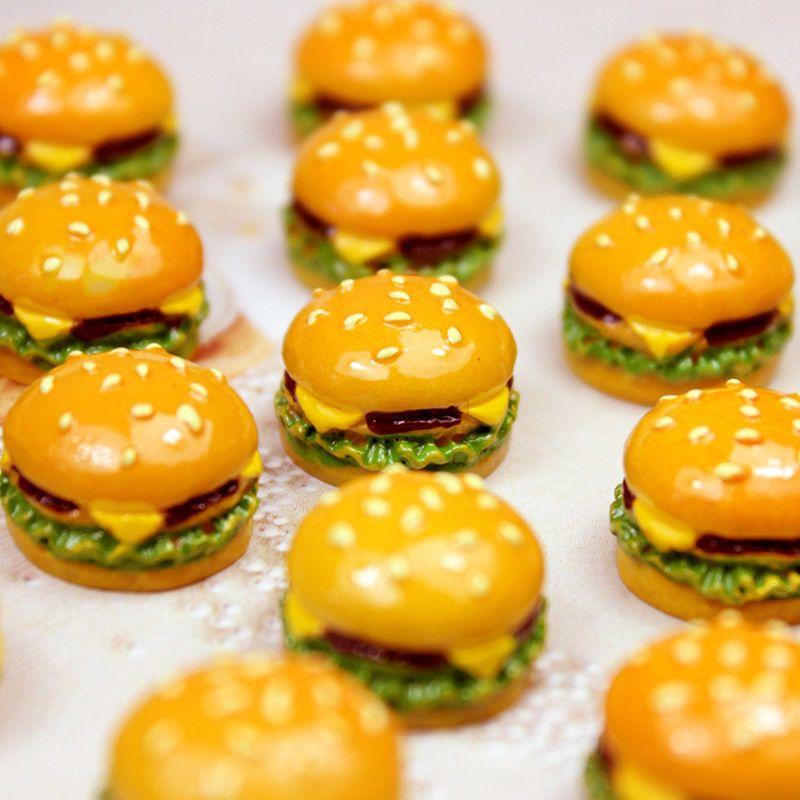 Doll Mini Burgers Hot Dogs Pizza Sandwiches 20 Dollhouse Miniature Mixed Food