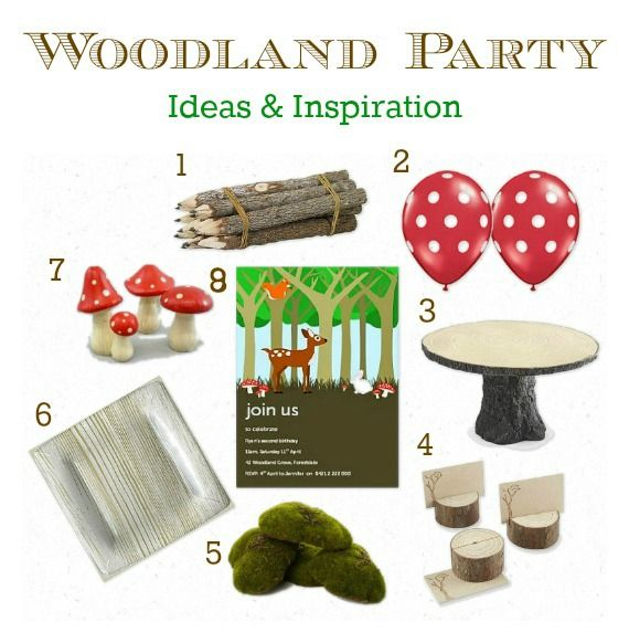 Woodland Party Ideas Inspiration Party Decorations Party