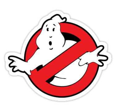 Original ghostbusters logo in colour sticker by electricfield