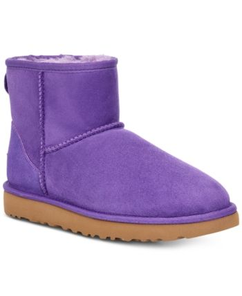 UGG Women's Classic Mini Purple Boots