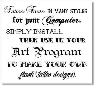 Calligraphy Tattoo Fonts | tattoo+fonts+best+font+for+tattoo+sweet+