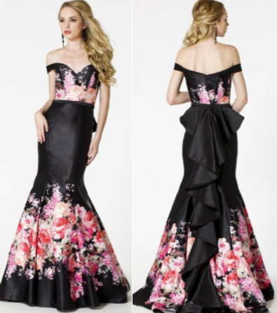 Terry Costa | Sean Collection Dress 51103 | Floral prom ...