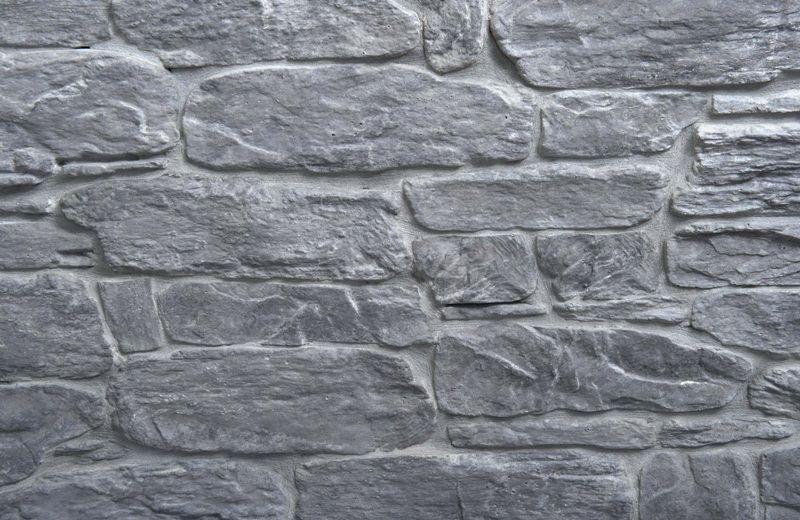 Grey stonecrete väggsten