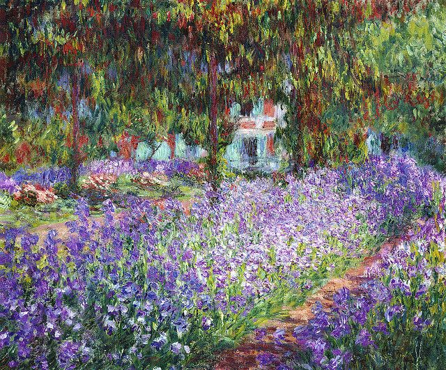 Claude Monet - The Artist's Garden at Giverny, c.1900.