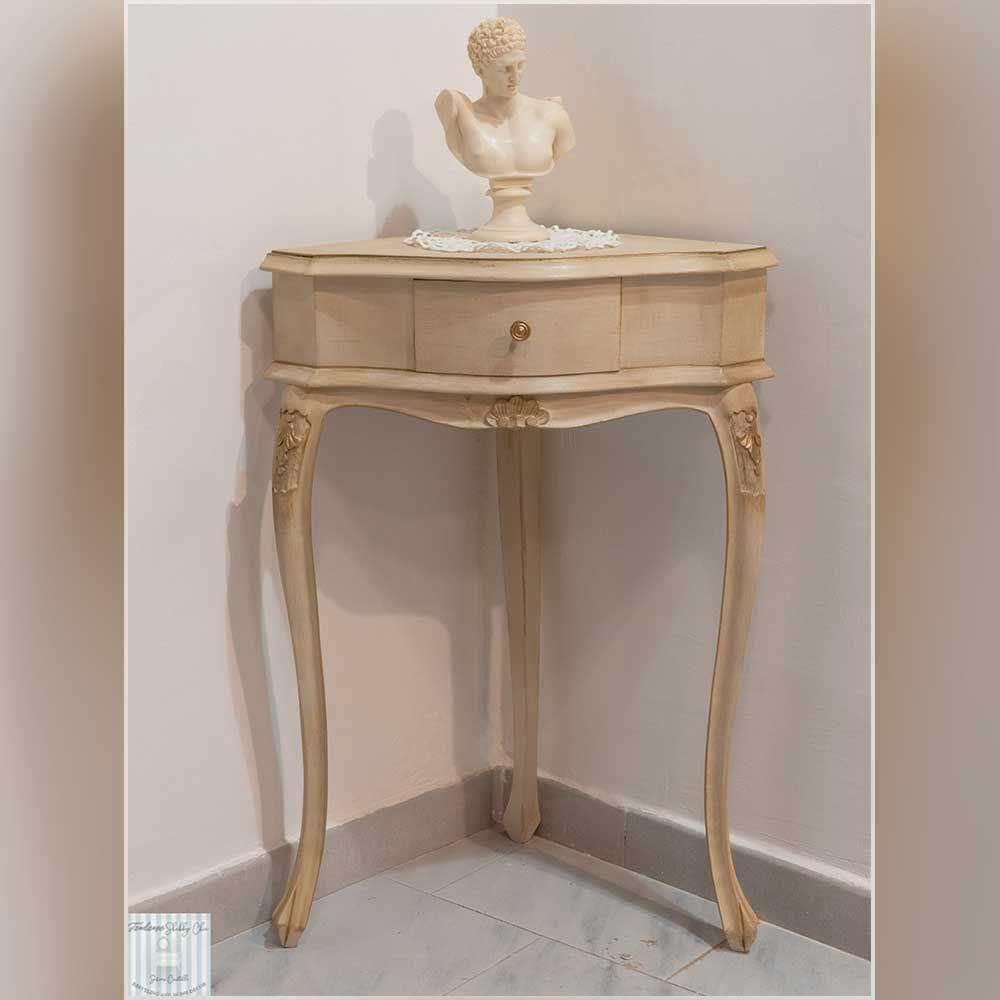 Tavolino fagiolino angolare in stile Shabby Chic [PEZZO