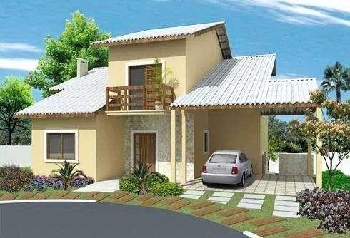 Fachada casa simples casas pinterest fachadas casas for Modelos de casas fachadas fotos