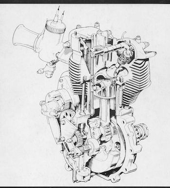 Triumph Motorcycle Engine Drawings Triumph 650 Engine