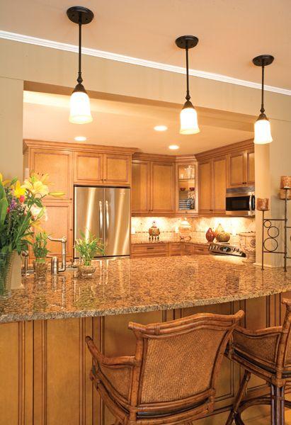 stunning natural maple kitchen cabinets | maple mocha glaze cabinets | Maple Monticello Natural ...