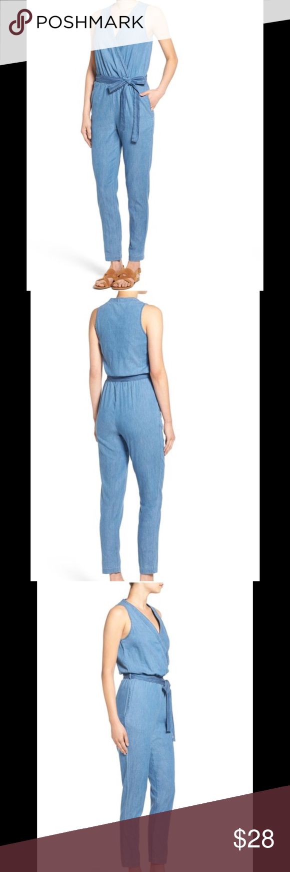 97de1e0b9f16 Mimi Chica Denim Jumpsuit. Brand New. Nordstrom Mimi Chica Denim Jumpsuit.  Soft chambray