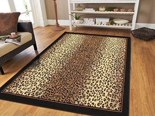 Large 8x11 Cheetah Rug Animal Print Rectangle Leopard Rugs Contemporary 8x10 For Living Room Modern