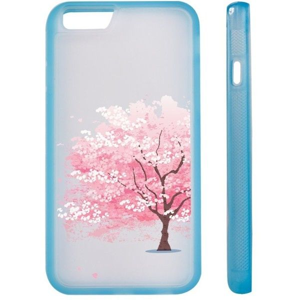 Cherry Blossom Clear Transparent Plastic Phone Case/Phone Cover for... (€4,90) ❤ liked on Polyvore featuring accessories, tech accessories and transparent smartphone