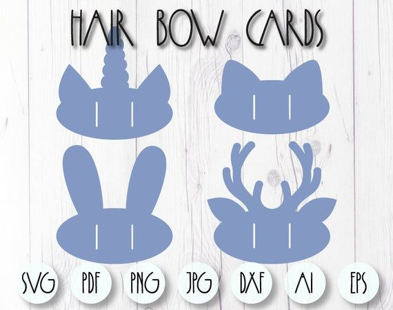 Bow Holder Svg Ears Holder Template Cricut Svg Bow Card Etsy Bow Template Paper Bows Diy Diy Bow